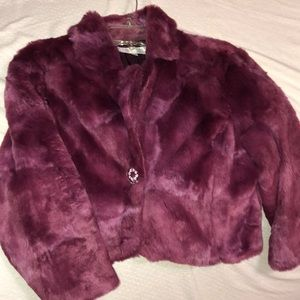 FAUX pink FUR jacket